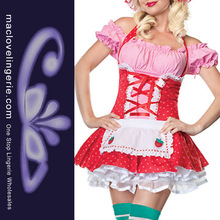 ML5285 Sexy strawberry Shortcake Fancy Dress carnival adult costumes