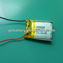 3.7V 180mAh GEB 602025 15c high rate discharge lithium ion battery for RC model