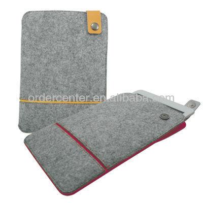 Slim-fit Felt Contrast Sleeve for iPad Mini