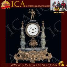Antique table clock,bronze antique clock,bronze and marble clock classic for sales