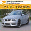 New body kits car sideskirts E92 PU side skirts for BMW E92 AC look