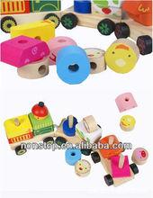 Wooden Puzzle Blocks Train Intelligence Toy