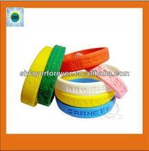 Custom silicone promotional wristbands/promotional wristband silicone