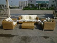 round rattan garden section sofa set
