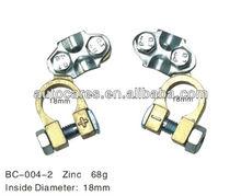 aluminium brass battery clip