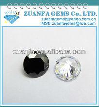 black precious round synthetic zirconia