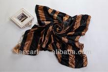 classic gray stripe square shawl