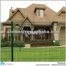 dark brown vinyl fence