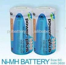 3600mAh 1.2V NimH SC Rechargeable Battery