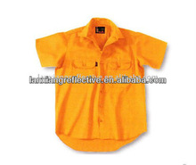 Fashion Short sleeves Cotton Drill Shirt LX801-A