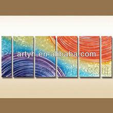 High quality group decor aluminium art painting