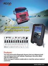 Fcar Free shipping Original truck diagnostic scanner supports IVECO,RENAULT,Scania,Volvo,DAF,Man etc trucks 24V diesel truck