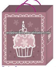 creative paper bag /gift paper bag / hot stamping /350gsm bottom cardboard