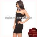 baratos negro elegante vestido de vendaje