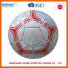 laser shiny PVC soccer ball high quality official weight and size assorted packing