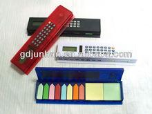 dual power 8 digital ruler calculator with writing pad