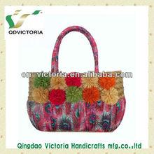 Raffia Ball Sea Grass Straw Beach Bag