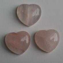 18*26mm natural rose quartz heart shape cabochon for inlays