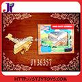 diy 3d de embarcaciones de madera puzzle avión de juguete con titular de la eva