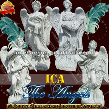 Excellent quality white marble angel sculpture RF0084
