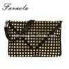 GuangZhou supplier rivet style women PU clutch bags wholesale