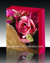 lovely paper foldable shopping bag of flower