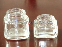 50ml square facial serum glass jars manufacturer made in China