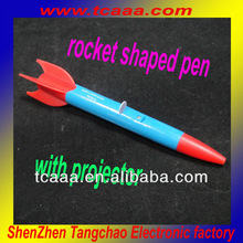 rocket shaped led projector light pen