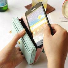 Money Holder Grand Multi Functional Leather Hangbag for Mobile Phone