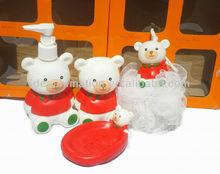 OEM 500ml vinly cartoon figure shampoo bottle cute bear
