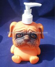OEM 500ml vinly cartoon figure shampoo bottle husky dog
