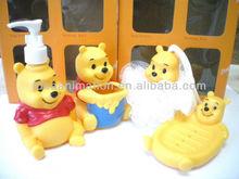 OEM 500ml vinly cartoon figure shampoo bottle teddy bear