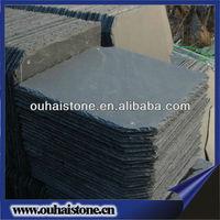 Nature square black stone roof slate