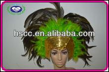 Adult Size Sequin Fashion Feather Wedding headdress