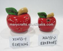 Ceramic decorative apples