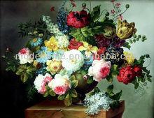 2013 New High Quality Cheap Flower Design Canvas Handmade Oil Painting