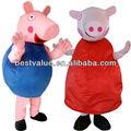 George pig/animaux,/carnaval/caractère. costume de mascotte