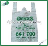 Oxo-biodegradable plastic T-shirt shopping bag