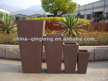 Decoration Red Planter Pots Sandstone Hand made Tall Planter Urns QL-13139 4pcs/set 23inch Bulk Slase