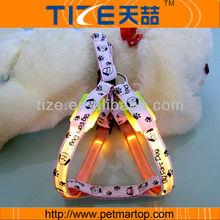LED Dog harness with big ears dog printing