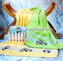 bamboo solid color bamboo&panda jacquard bath/face/hand towel