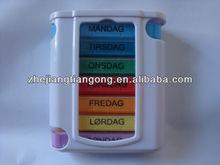 weekly pill box plastic organizer box 28cases pill box