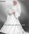 belle perles balle robe blanche à manches longues robes de mariée istanbul turquie