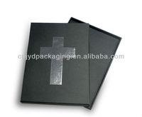 Rigid cardboard texture bible box