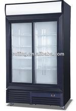 Slide glass display cabinet showcase LGF-800S