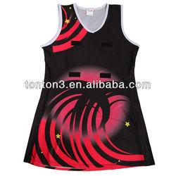 Lycra material sublimation women netball dress