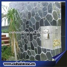 Internal decorative natural black flagstone
