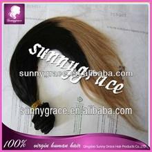 Ombre Color Eurasian Human virgin silky straight hair---sunnygrace