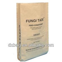 25kg paper plastic bag, pig feed packaging bag