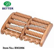 wooden foot roller massager 10 apparatus